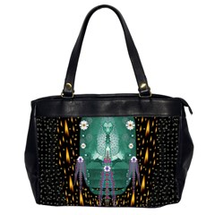 Temple Of Yoga In Light Peace And Human Namaste Style Office Handbags (2 Sides)