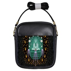 Temple Of Yoga In Light Peace And Human Namaste Style Girls Sling Bags