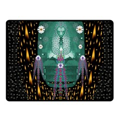 Temple Of Yoga In Light Peace And Human Namaste Style Fleece Blanket (small)
