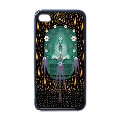 Temple Of Yoga In Light Peace And Human Namaste Style Apple Iphone 4 Case (black)