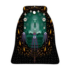 Temple Of Yoga In Light Peace And Human Namaste Style Bell Ornament (two Sides)