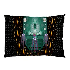 Temple Of Yoga In Light Peace And Human Namaste Style Pillow Case (two Sides)