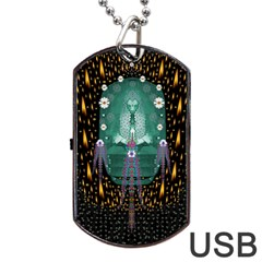 Temple Of Yoga In Light Peace And Human Namaste Style Dog Tag Usb Flash (two Sides)