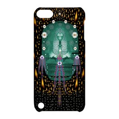 Temple Of Yoga In Light Peace And Human Namaste Style Apple Ipod Touch 5 Hardshell Case With Stand