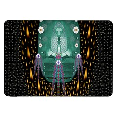 Temple Of Yoga In Light Peace And Human Namaste Style Samsung Galaxy Tab 8 9  P7300 Flip Case