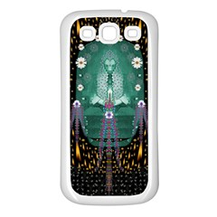 Temple Of Yoga In Light Peace And Human Namaste Style Samsung Galaxy S3 Back Case (white)