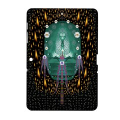 Temple Of Yoga In Light Peace And Human Namaste Style Samsung Galaxy Tab 2 (10 1 ) P5100 Hardshell Case