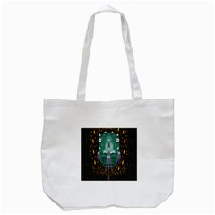 Temple Of Yoga In Light Peace And Human Namaste Style Tote Bag (white)