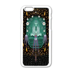 Temple Of Yoga In Light Peace And Human Namaste Style Apple Iphone 6/6s White Enamel Case