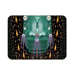Temple Of Yoga In Light Peace And Human Namaste Style Double Sided Flano Blanket (mini)