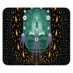 Temple Of Yoga In Light Peace And Human Namaste Style Double Sided Flano Blanket (small)