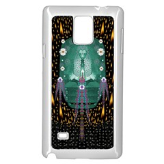 Temple Of Yoga In Light Peace And Human Namaste Style Samsung Galaxy Note 4 Case (white)