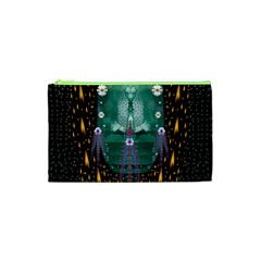 Temple Of Yoga In Light Peace And Human Namaste Style Cosmetic Bag (xs)