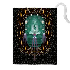 Temple Of Yoga In Light Peace And Human Namaste Style Drawstring Pouches (xxl)