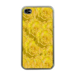Summer Yellow Roses Dancing In The Season Apple Iphone 4 Case (clear)