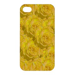 Summer Yellow Roses Dancing In The Season Apple Iphone 4/4s Hardshell Case