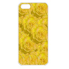 Summer Yellow Roses Dancing In The Season Apple Iphone 5 Seamless Case (white)