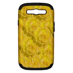 Summer Yellow Roses Dancing In The Season Samsung Galaxy S Iii Hardshell Case (pc+silicone)