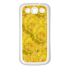 Summer Yellow Roses Dancing In The Season Samsung Galaxy S3 Back Case (white)