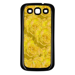 Summer Yellow Roses Dancing In The Season Samsung Galaxy S3 Back Case (black)
