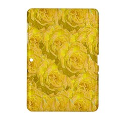Summer Yellow Roses Dancing In The Season Samsung Galaxy Tab 2 (10 1 ) P5100 Hardshell Case
