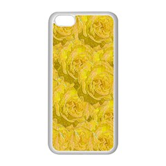 Summer Yellow Roses Dancing In The Season Apple Iphone 5c Seamless Case (white)