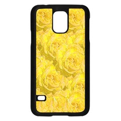 Summer Yellow Roses Dancing In The Season Samsung Galaxy S5 Case (black)
