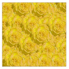 Summer Yellow Roses Dancing In The Season Large Satin Scarf (square)