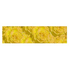 Summer Yellow Roses Dancing In The Season Satin Scarf (oblong)