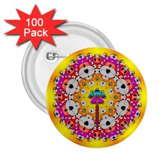 Fantasy Flower In Tones 2 25  Buttons (100 Pack)