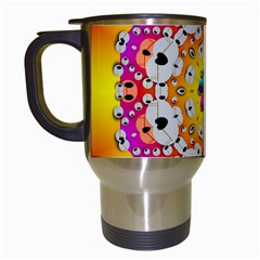 Fantasy Flower In Tones Travel Mugs (white)