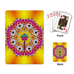Fantasy Flower In Tones Playing Card