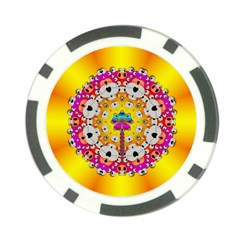 Fantasy Flower In Tones Poker Chip Card Guard