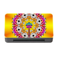 Fantasy Flower In Tones Memory Card Reader With Cf