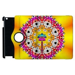 Fantasy Flower In Tones Apple Ipad 3/4 Flip 360 Case