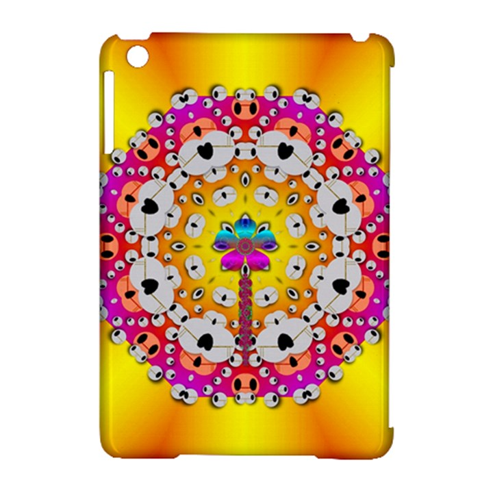 Fantasy Flower In Tones Apple iPad Mini Hardshell Case (Compatible with Smart Cover)
