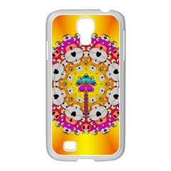 Fantasy Flower In Tones Samsung Galaxy S4 I9500/ I9505 Case (white)