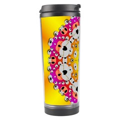 Fantasy Flower In Tones Travel Tumbler