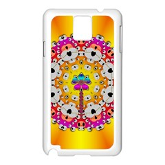 Fantasy Flower In Tones Samsung Galaxy Note 3 N9005 Case (white)