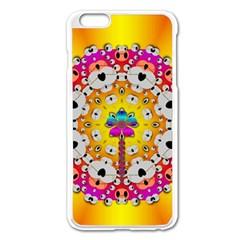 Fantasy Flower In Tones Apple Iphone 6 Plus/6s Plus Enamel White Case
