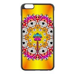 Fantasy Flower In Tones Apple Iphone 6 Plus/6s Plus Black Enamel Case