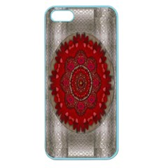 Strawberry  With Waffles And Fantasy Flowers In Harmony Apple Seamless Iphone 5 Case (color)