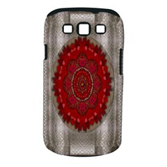 Strawberry  With Waffles And Fantasy Flowers In Harmony Samsung Galaxy S Iii Classic Hardshell Case (pc+silicone)