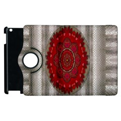 Strawberry  With Waffles And Fantasy Flowers In Harmony Apple Ipad 2 Flip 360 Case