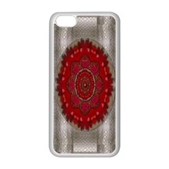 Strawberry  With Waffles And Fantasy Flowers In Harmony Apple Iphone 5c Seamless Case (white)