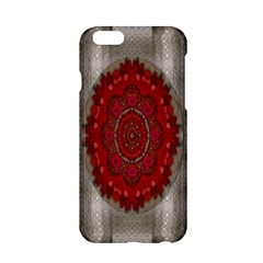 Strawberry  With Waffles And Fantasy Flowers In Harmony Apple Iphone 6/6s Hardshell Case