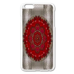 Strawberry  With Waffles And Fantasy Flowers In Harmony Apple Iphone 6 Plus/6s Plus Enamel White Case
