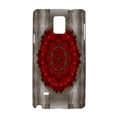 Strawberry  With Waffles And Fantasy Flowers In Harmony Samsung Galaxy Note 4 Hardshell Case