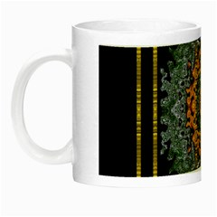Blue Bloom Golden And Metal Night Luminous Mugs