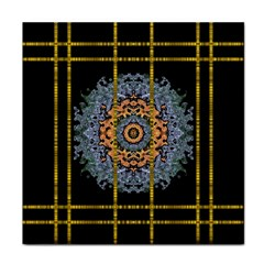 Blue Bloom Golden And Metal Face Towel